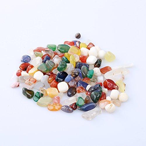 Bluelans® Edelsteine, Trommelsteine poliert, bunte Mischung, Größe ca. 1 cm, 100 g-Beutel