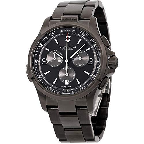 Victorinox Men's Night Vision Titanium Swiss-Quartz Watch with Stainless-Steel Strap, Black, 21 (Model: 241730)