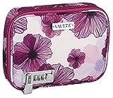 Vaultz Locking Everyday Case for Cosmetics Storage, Purple Floral (VZ03750)