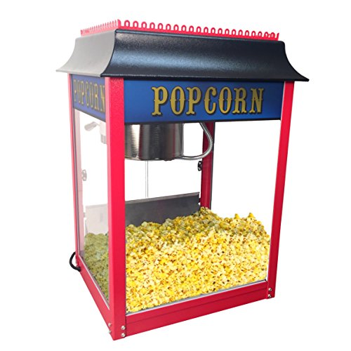 Amazing Deal 1911 Style Pop 8 Ounce Red Popcorn Machine for Professional Concessionaires Requiring C...