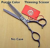 ヘアカッティングハサミ 左手6.0inch Fire Dragon Japan 440Cプロのヘアハサミの理髪はさみを切断する剪断を切るシサーを切る ヘアカッティングキット (Color : Thinning No Case Z)