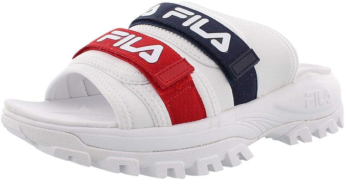 Fila Women's Outdoor Slide Sandals White/Navy/Red