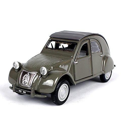 Penao 1952 Citroën 2CV Simulation Alliage Modèle de Voiture, Voiture Modèle Ornements, mobilier Métallique, Ratio 01:32