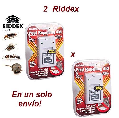 2X RIDDEX REPELENTE ANTI ROEDORES E INSECTOS (Blanco)