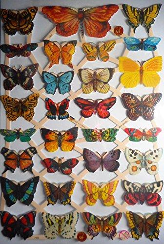 Glanzbilder Schmetterling EF 7336 Oblate Posiebilder Scrapbook Deko GWI 414