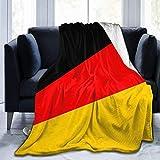 Bernice Winifred Manta de Felpa Suave de Franela con Bandera Alemana, Manta de Cama de Lujo, súper Suave y acogedora, Microfibra de 60'x 50'