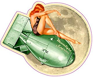 Moon Light Surprise Pin Up Large 10 in. Decal in The United States