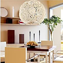 GOWE Round Holand Random Light Ball Suspension Pendant Lamp Dia 50cm Manual Lights Lampshade Color:white