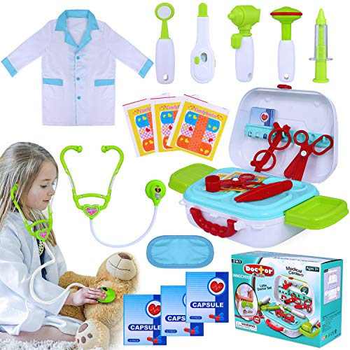 INNOCHEER Kids Doctor Kit 20 Pieces Pretend-n-Play Medical Toys Set review