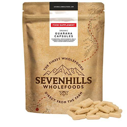 Sevenhills Wholefoods Guarana-Pulver Kapseln Bio, 500mg x 120