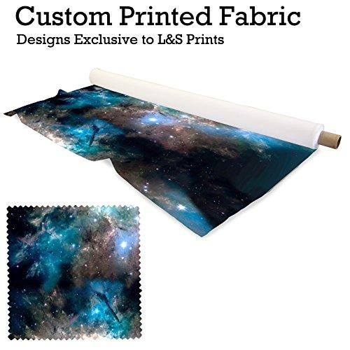 L&S PRINTS FOAM DESIGNS Galaxy 7Design Digital Print Lycra 2Wege Stretch Polyester bedruckter Stoff 149,9cm Breite hergestellt in Yorkshire