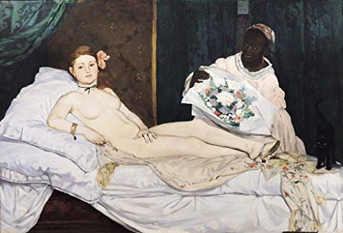 Kunst für Alle Impresión artística/Póster: Edouard Manet Olympia 1863' - Impresión, Foto, póster artístico, 95x65 cm