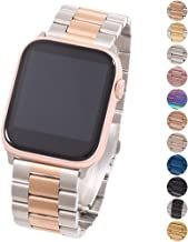 Miniseas Band Compatible with Apple Watch Band 38mm 42mm Stainless Steel Wristband Metal Buckle Clasp Strap Replacement Br...