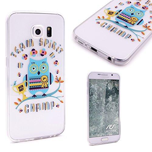 Urcover® Funda Compatible con Samsung Galaxy S6 Edge Plus Carcasa Protectora Trasero Protector de Cámara Cover Silicona Ultra-Delgada Suave Back Case - Diseño Búho 5