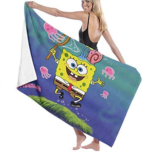 Bob Esponja toallas de playa personalizadas para mujeres, niños, niñas, niños y adultos. Nombre personalizado toalla de playa regalos de verano