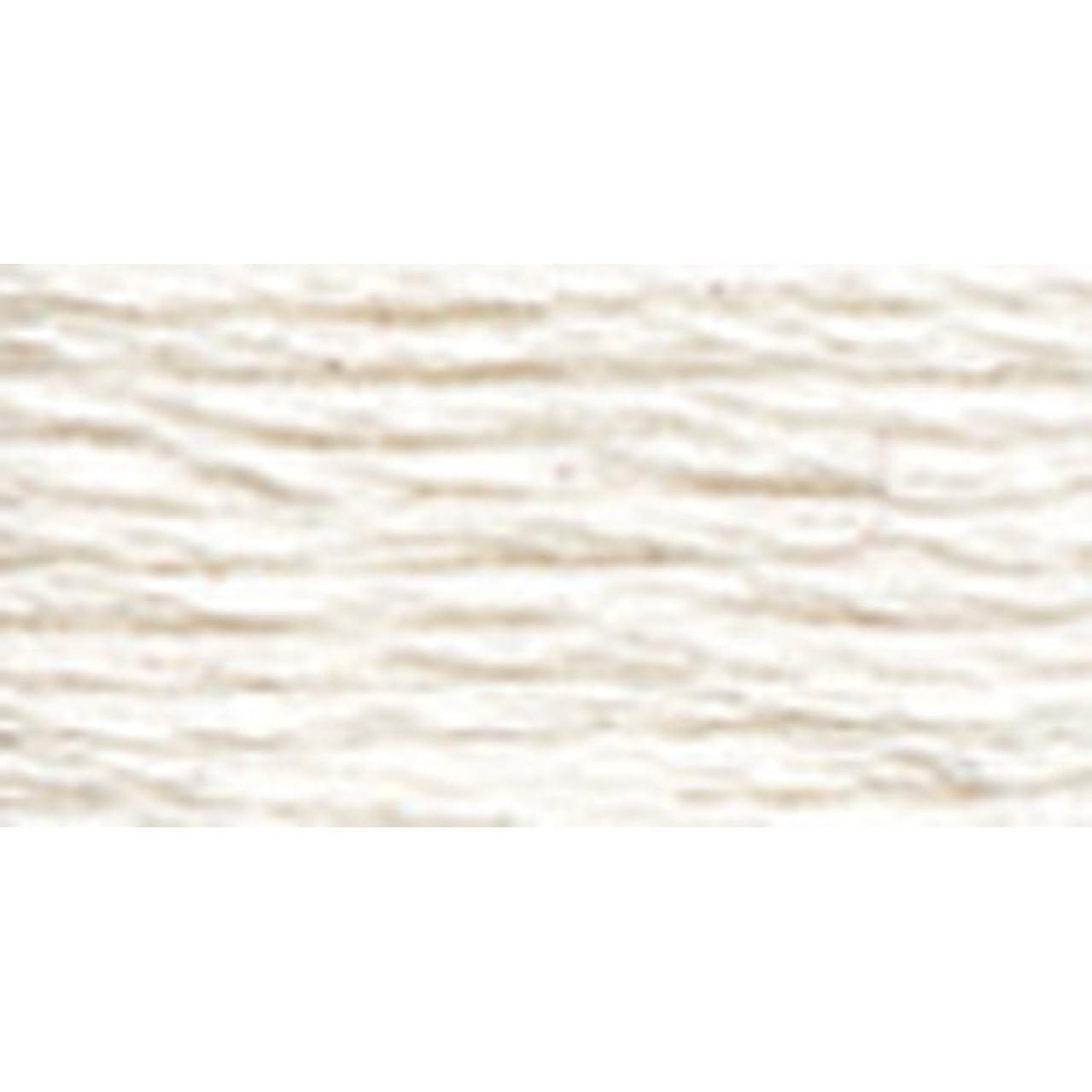 DMC 116 8-BLANC Pearl Cotton Thread Balls, White, Size 8