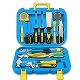 Set caja de herramientas del hogar, el mantenimiento diario, caja de hardware de almacenamiento, alicates, martillos, caja de juego de destornilladores llave, caja de combinación de tornillo de banco