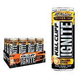 Kill Cliff Ignite Smashing Citrus Clean Energy Drink Natural Caffeine from Green Tea, Electrolytes, No Sugar, Nothing Artificial, KETO Friendly - 12 Cans