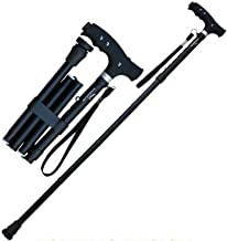KingGear Travel Adjustable Folding Canes and Walking Sticks for Men and Women - Led Light and Easy Grip Handle for Arthritis Seniors & Disabled - Best Mobility Aids Cane