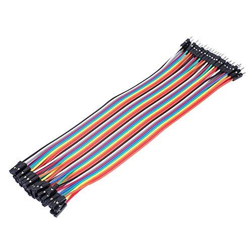 N / E 40-polige Steckplatine Kabel mit 2,54 mm Abstand Pin Headers 20 cm Breadboard für Arduino