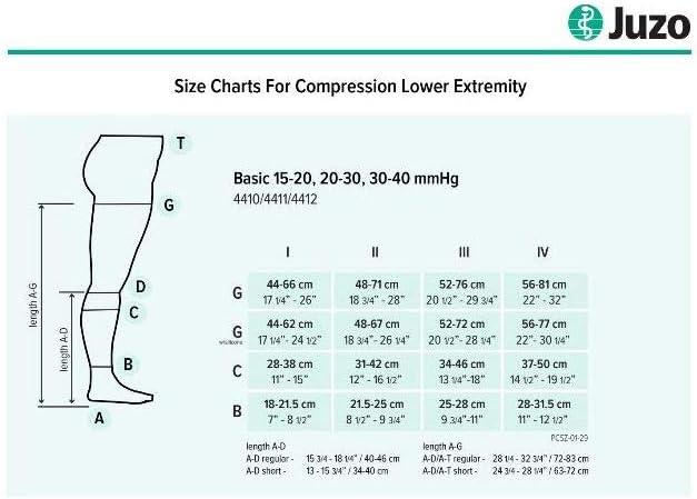 Juzo 4700 15-20mmhg Casual Basic Support Compression Socks
