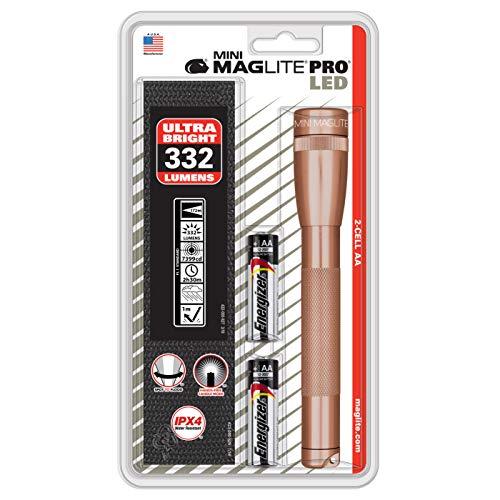 MagLite Mini Pro Lampe de Poche LED 2 AA Doré Rose