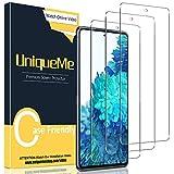 [3 Pack] UniqueMe Protector de Pantalla para Samsung Galaxy S20 FE / S20 FE 5G, Vidrio Templado [9H Dureza] HD Film Cristal Templado