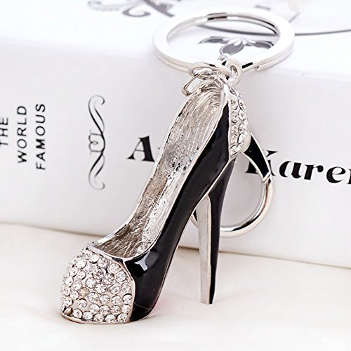 Kanggest Fashion 3D High Heel Shoes Keyring Key Chain Ring Crystal Rhinestone Metal for Bag Car Key