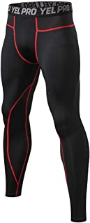 waitFOR Men Fitness Leggings Training Workout Tight-Drying Sports Trousers Man Solid Color High Waist Yoga Trousers, Gym O...