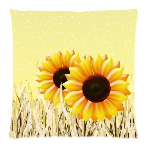 iksrgfvb C9488F Cotton comfortable pillowcase Beautiful Sunflowers 45X45 CM