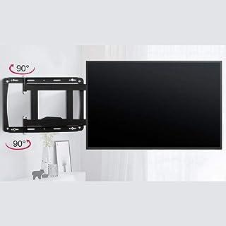 Tv-väggfäste i rostfritt stål med hyllor för de flesta 32-65 tum platta böjda tv-apparater, flytande tv-väggstativ upp til...