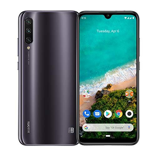 Xiaomi Mi A3 4G Smartphone, 4 + 128GB, Schermo AMOLED Full-Screen da 6.18'', Tripla fotocamera da 48 + 8 + 2 MP, 4030 mAh, Qualcomm 665 (Versione Global) (Grigio)