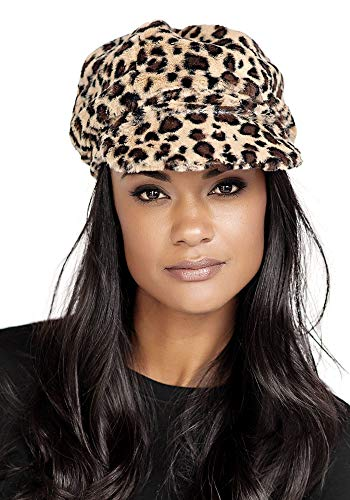 Donna Salyers' Fabulous-Furs Cabbie Hat (Leopard)