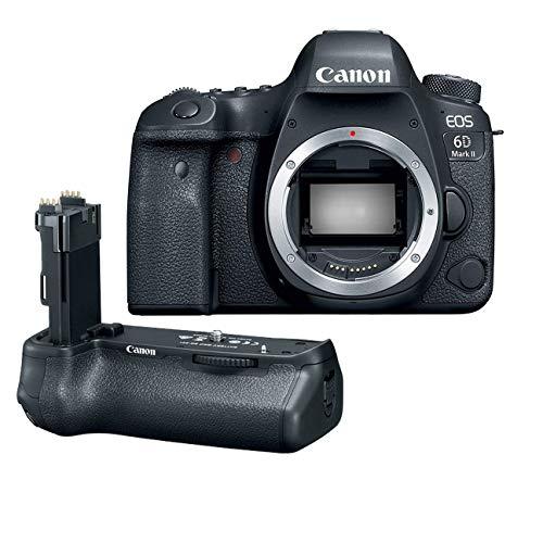 Canon EOS 6D Mark II Wi-Fi Digital SLR Camera Body with BG-E21 Battery Grip