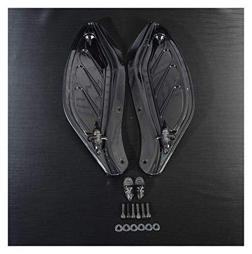 ZHANGWUNIU WUZ Store Motocicleta ala Ajustable ala de ala Deflector de carenado Ajuste para Harley Touring 96-13 Black/Clear Moto Styling (Color : Black)
