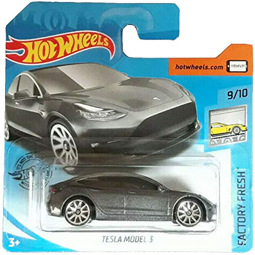 Hot-Wheels Tesla Model 3 Factory Fresh 2020 9/10