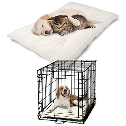 PetLuv Premium Luxury Pet Pillow Bed & Crate Cushion Mat - Velvety Soft and Plush - Great Dog Crate & Cat Carrier Replacement Mat