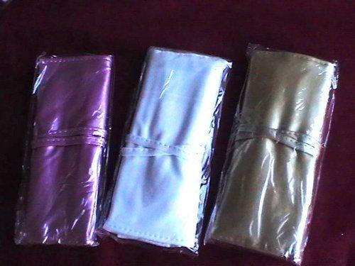 Set de 7 pinceaux Make Up Maquillage Blush CLUSH Fard à paupières Lèvres en en élégant Etui en cuir blanche ou lilas