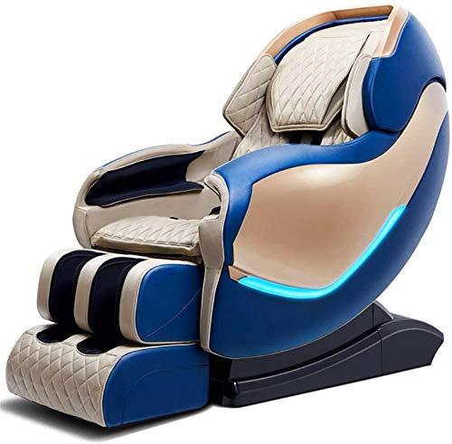 PIAOLIGN Sillón de Masaje Masaje Sillón de Masaje de Cuerpo Completo Lleno de cápsulas automática sofá eléctrica Compartir Altavoz masajeador (Color : Blue)