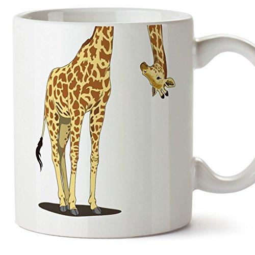 Mugffins Lustige und ursprüngliche Tasse – Giraffe - Keramikbecher 350 ml