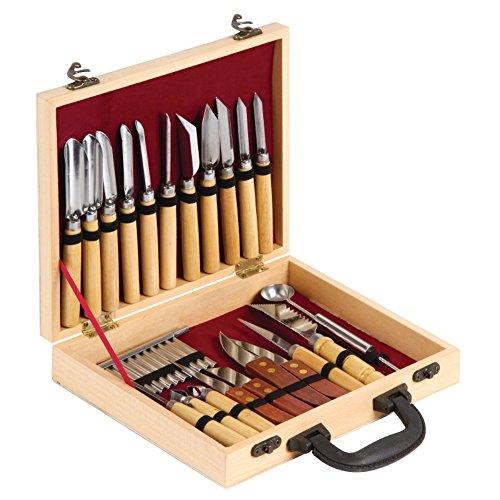 Vogue D610Set di 22 strumenti da decoro, custodia in legno