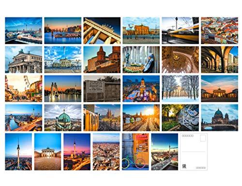 Reise-Postkarten, Set mit 30 Postkarten, verschiedene Postkarten, 10 x 15 cm Berlin