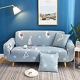 Patrón de Color Funda de sofá elástica Funda de sofá elástica para Sala de Estar Funda de sofá en Forma de L Funda de sillón de Esquina A11 3 plazas
