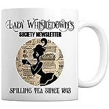 Lady Whistledown 's Society Newsletter Spilling Tea Since 1813 Taza de café de cerámica Gran regalo de inauguración de la casa para familiares, amigos, compañeros de trabajo - Taza de 11 oz / Blanco /