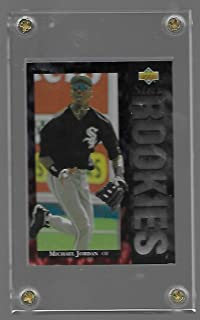 Michael Jordan 1994 Upper Deck Baseball Rookie Card # 19 - Chicago White Soxs - Stored in a Protective Plastic Display Case!!
