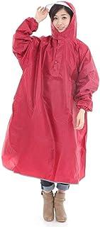 Krosta(クロスタ) レインコート メンズ レディース 兼用 [反射テープ 収納袋 付き] 自転車 通勤通学 袖付き ポンチョ フリーサイズ