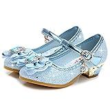 YOGLY. Niñas Princesa Reina de Nieve Partido Zapatos Zapatos de Fiesta Sandalias Niña Bailarina Zapatos de Tacón Disfraz de Princesa Zapatilla de Ballet para