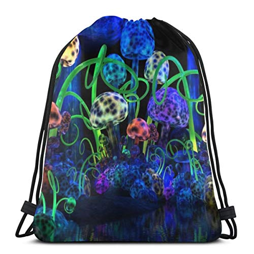 Light Mushroom Unisex Drawstring Bag Gym Dance Backpack