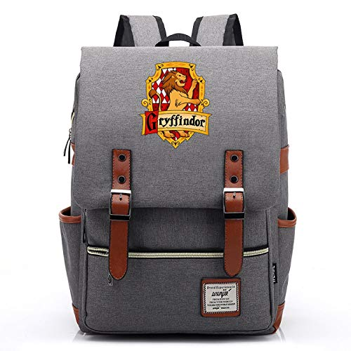 Gryffindor College Backpack Harry Backpack Youth Portable Backpack Bicycle Backpack Large Gray