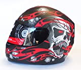Viper RS-44 Skull Motorcycle Helmet S Matt Red